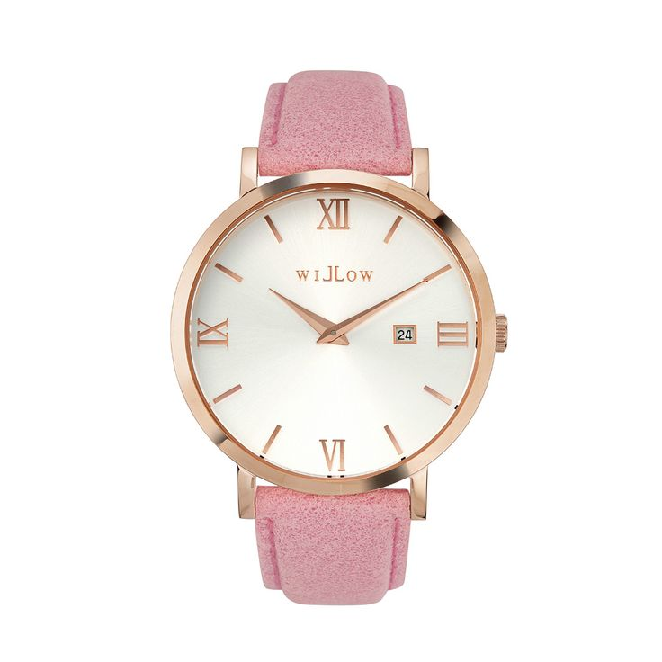 Siena Rose Gold Watch & Interchangeable Pink Leather Strap.