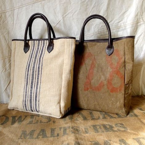 Fogle Bags, designed by Tamara Fogle, are all proudly made in the UK, using leather and a variety of vintage and antique textiles. Vintage Military Tent Canvas, Antique German and Hungarian Grain Sacks, French Tickings and Old Military Blankets. These sit alongside a full leather range, of totes and elegant frame bags.: