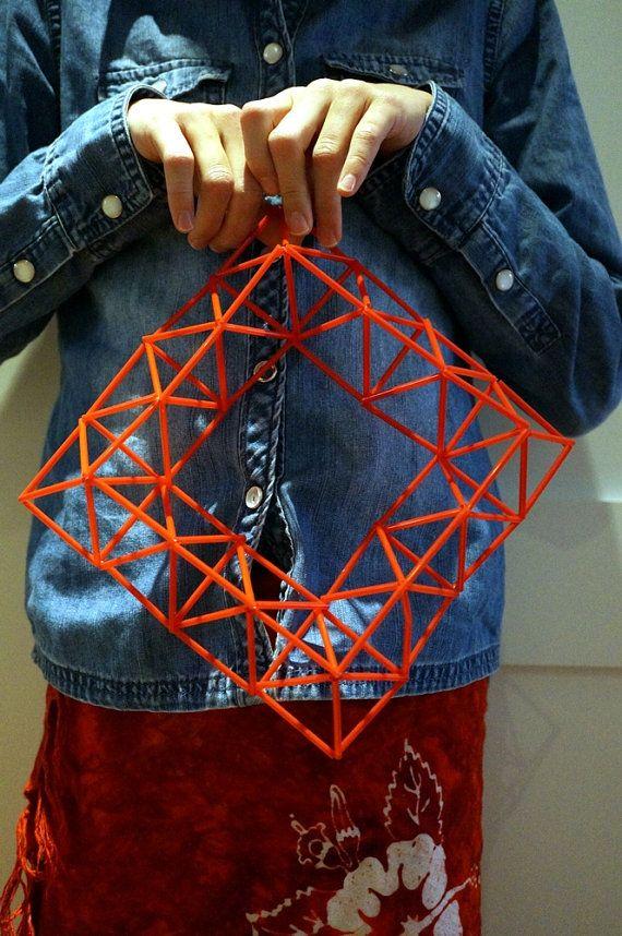 Geometric+Himmeli+Wreath+Handmade+Red+Home+Decor+by+aesthetikara