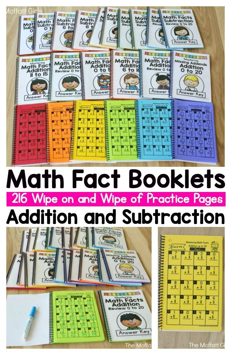 math fact booklets for addition and subtraction these booklets are simple and effective to help. Black Bedroom Furniture Sets. Home Design Ideas
