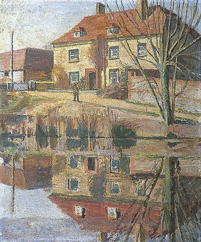 Charleston, East Sussex, Home of the Bloomsbury Group, 1950-55, Vanessa Bell