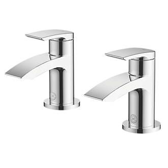 Watersmith Heritage Wye Bathroom Basin Taps Pair | Basin Taps | Screwfix.com