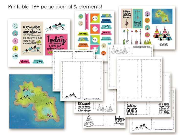 "Print out these fun pages to create your own notebook in the ""Traveler's Notebook"" style — use it (and the accompanying ""bits"" to decorated) as tools to illustra…"