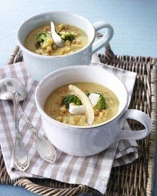 Rote Linsen-Currysuppe mit Broccoli Rezept