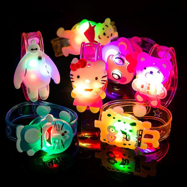 2016 Cartoon LED Flash Wrist Bracelet Light Halloween Luminous Hand Ring Children Toys Wholesale Christmas Gift Toys Online with $0.71/Piece on Annychan29's Store | DHgate.com