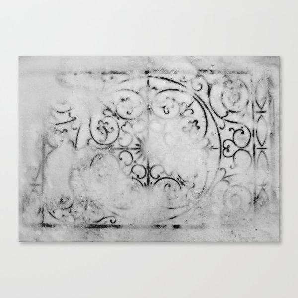 Metal under Snow Canvas Print by Marie Pier Cadorette | Society6
