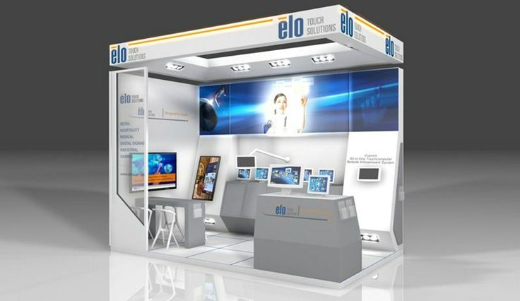 Elo Touch Systems Booth - www.standbeeld.be #exhibition #design #booth #event #marketing #sign #tradeshow