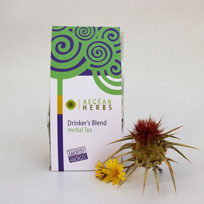Drinker's Blend Herbal Tea at Wholesale price, 45 gr. (12-15 cups)  A glass of wine might be good for you. But for those whom a glass is not enough, a cup per day of our drinker's herbal with thistle,...
