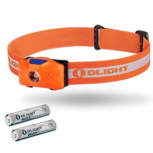 Olight® H05 ACTIVE – Lampe Frontale LED avec 2 Piles Lithium Ion AAA, 150 lumens , Eclairage et Angle Réglable, avec Indicateur LEDs Rouge,…