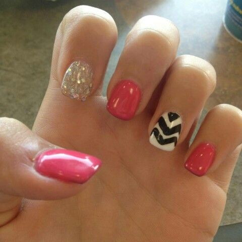 Gel nail idea :) going to do it on my toes !