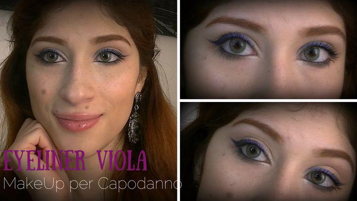 Lady Vermillion: MakeUp per Capodanno #1 || Eyeliner Viola | Lady V...