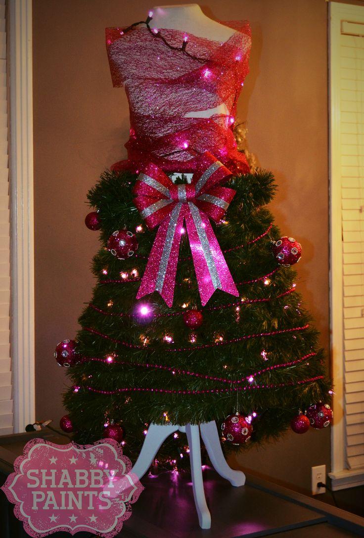 Shabby Dress form Christmas Tree
