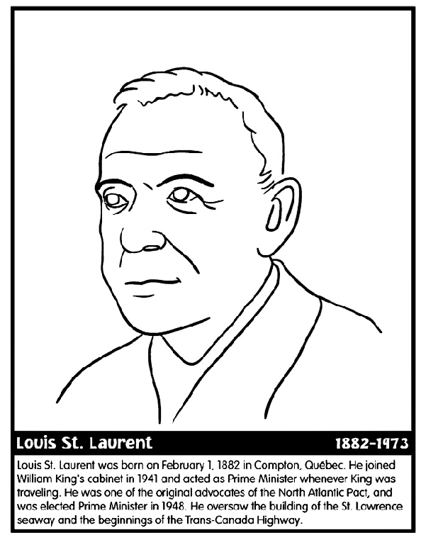 Canadian Prime Minister Laurent coloring page
