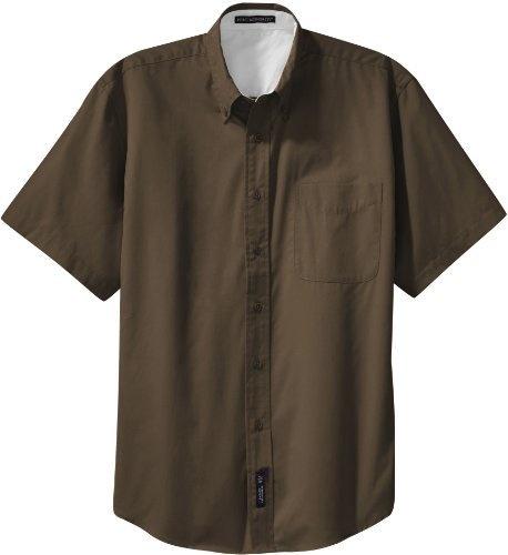 Port Authority - Short Sleeve Easy Care Shirt. S508 - Coffee Bean / Light Stone - XXXXXX-Large Port Authority,http://www.amazon.com/dp/B00B13H346/ref=cm_sw_r_pi_dp_OB2RrbA5943E40A0