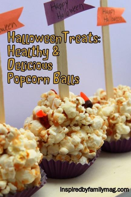 halloween treats- delicious and healthy popcorn balls