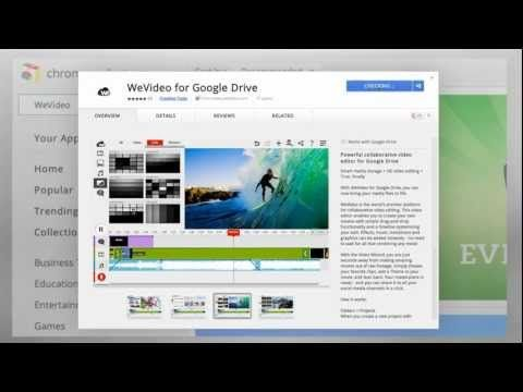 WeVideo is for anyone who is searching for a good online video creation tool it is cloud-based and collaborative. The WeVideo Google Drive app allows you to save all of your video projects in your Google Drive account. Learn more about it in the video below.