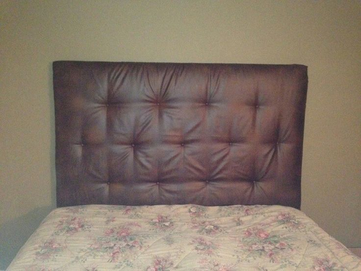 Diy Tufted Faux Leather Headboard Hanging Pictures
