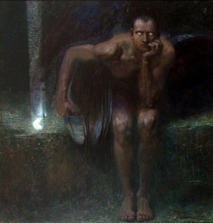 I LOVE this painting.  Franz von Stuck - Lucifer (1890)