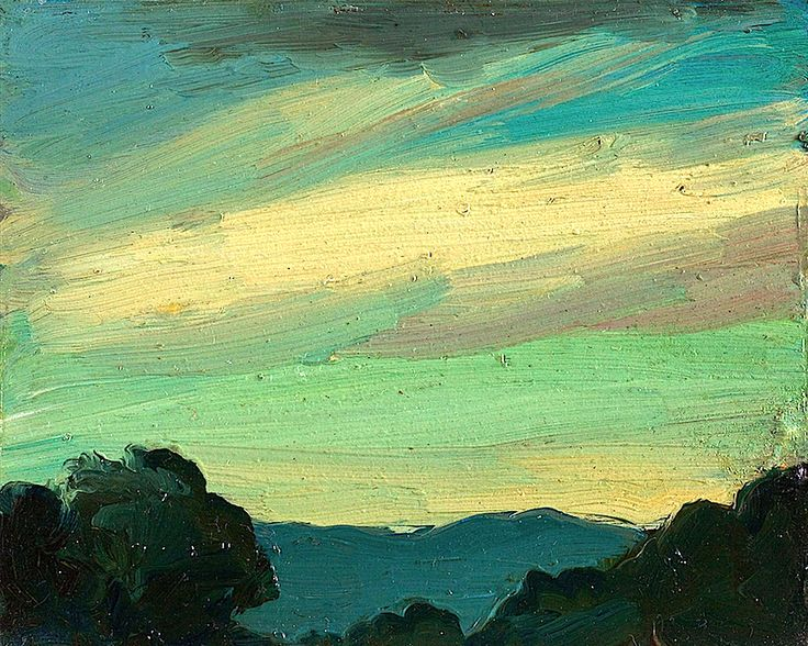 bofransson:  Robert Henri Evening Sky. I really love the colors in this one
