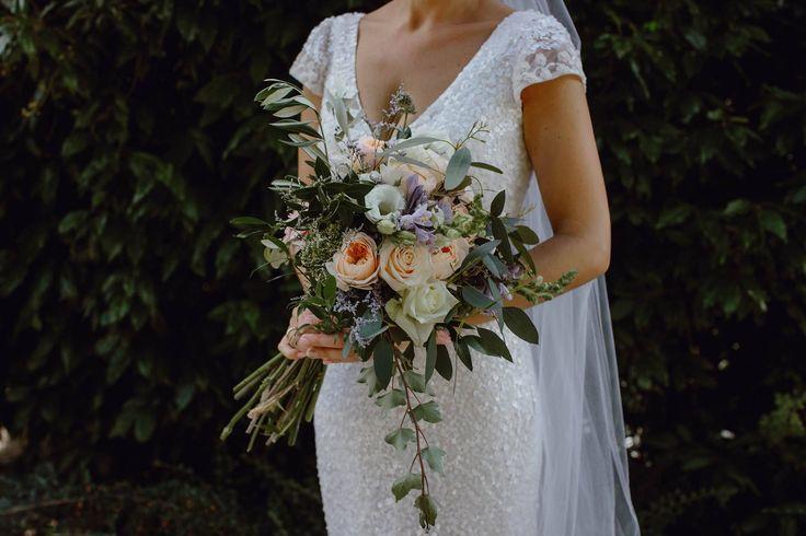 Gum and DA roses in wedding bouquet  http://wanakaweddingflowers.co.nz/