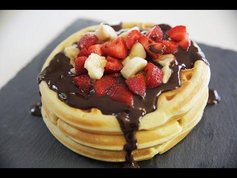 Waffle Tarifi - İdil Tatari - Yemek Tarifleri - Homemade Waffle Recipe - YouTube