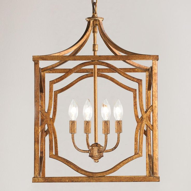 Medium Modern Fretwork Cage Lantern