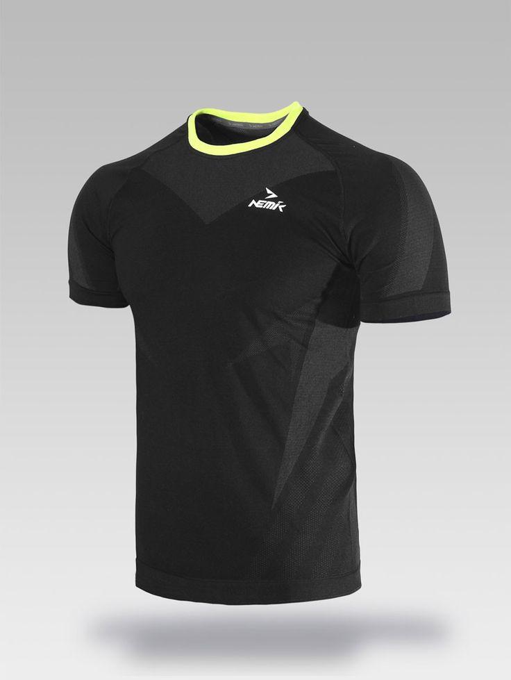Playera deportiva negra Nemik #tshirt #black #Nemik