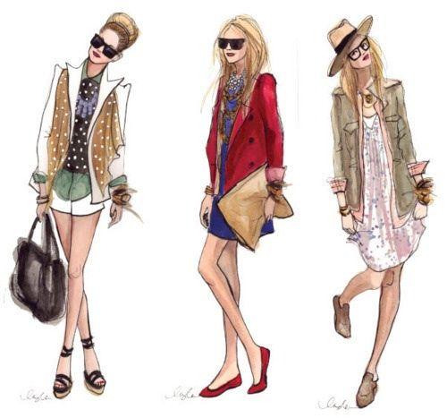 Everyday Fashion Sketches My Kinda Style Pinterest