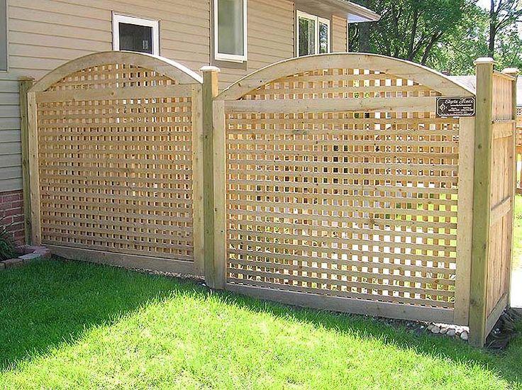 wood lattice fence arched square lattice wood fence by elyria fence