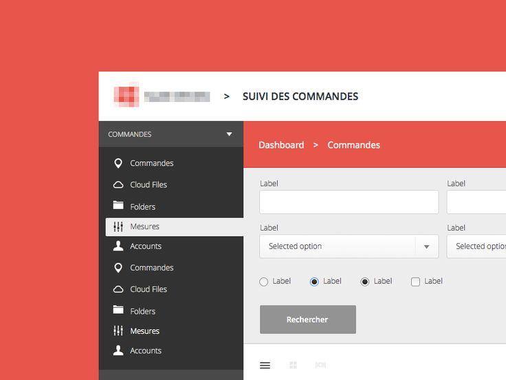 Flat Dashboard UI for Web App | User Interface Design