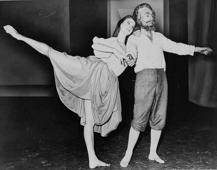 Сьюзан Фаррелл и Джордж Баланчин. . Источник фото: Library of Congress.