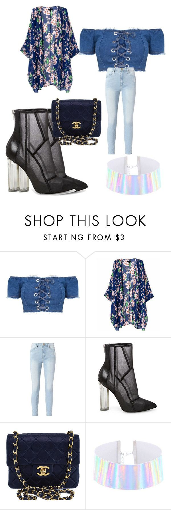 """""""Untitled #251"""" by adrianna-nicole-smith ❤ liked on Polyvore featuring Frame, Steve Madden and Chanel"""