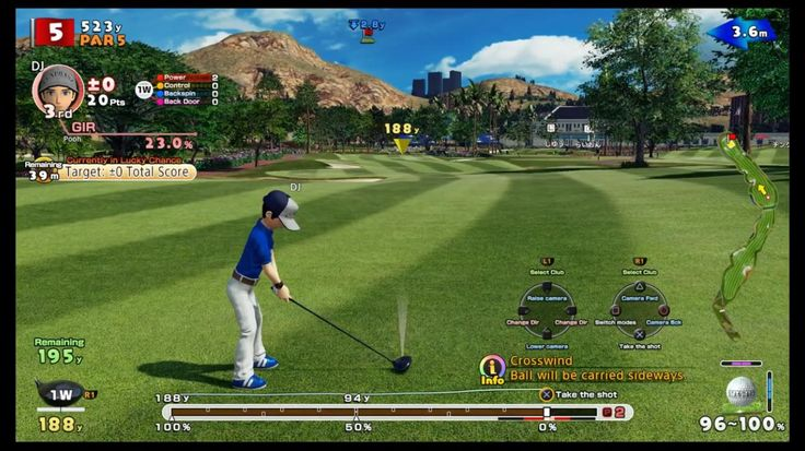 [Screenshot] Is there going to be a way to remove some (or all) of the HUD in Everybody's Golf? It's obnoxious how much screen space it takes up. #Playstation4 #PS4 #Sony #videogames #playstation #gamer #games #gaming