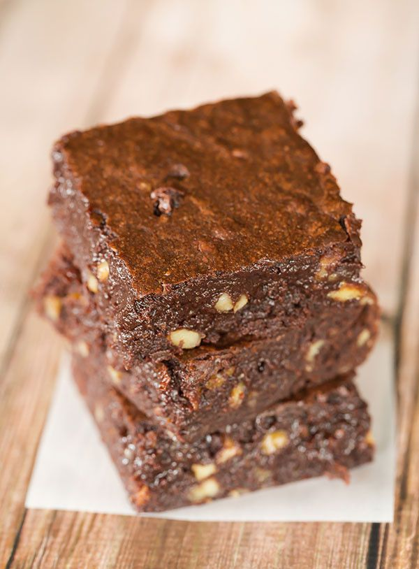 Fudgy Pudgy Brownies | browneyedbaker.com - The Baking Bible - RLB