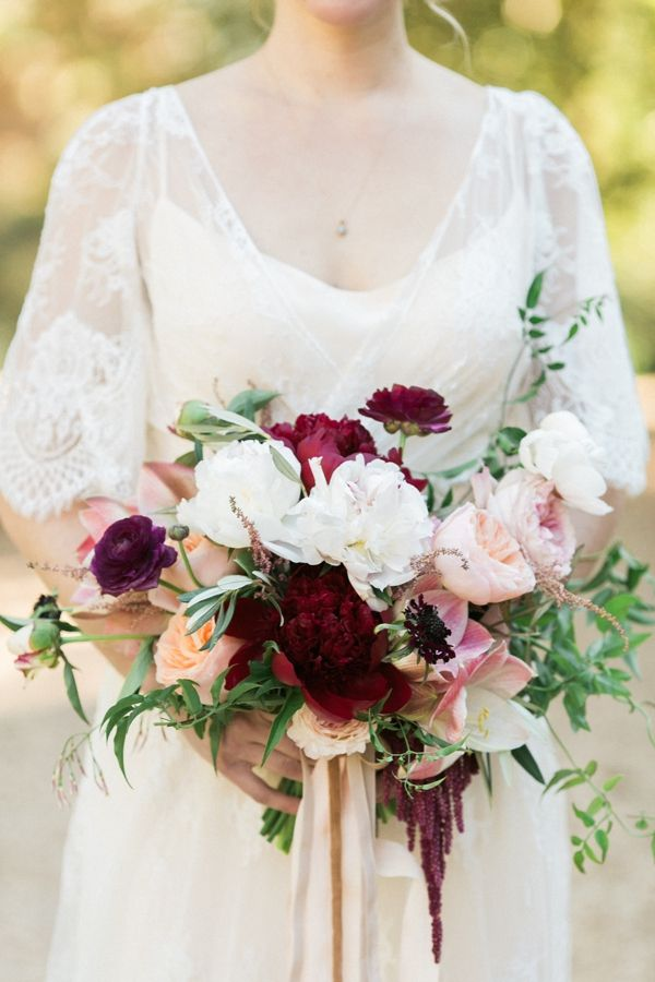 fall marsala bouquet | Morning Light by Michelle Landreau