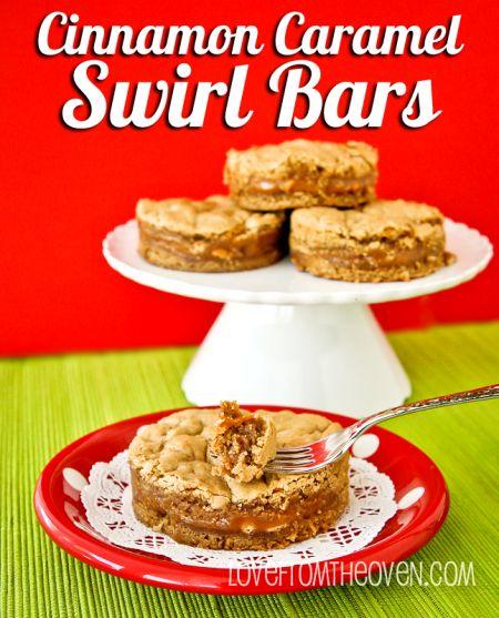 Cinnamon Caramel Swirl Bar Recipe --- lots of great ideas! I hope this ...