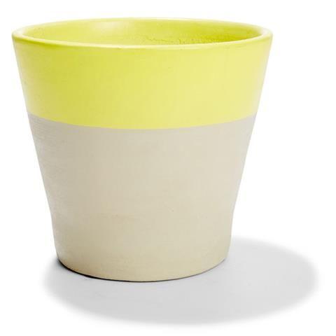 dipped Pot 18cm Yellow gardeners Choice