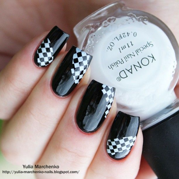 126 best stamping black an white images on Pinterest | Nail design ...