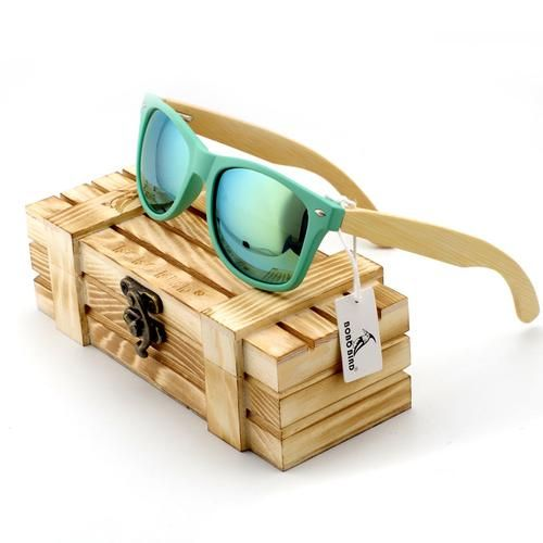 BOBO BIRD Bamboo Legs Polarized Wood Sun Glasses With Wood Case. New For 2017