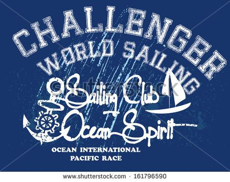 Vintage Sailing Club Vector Art - 161796590 : Shutterstock