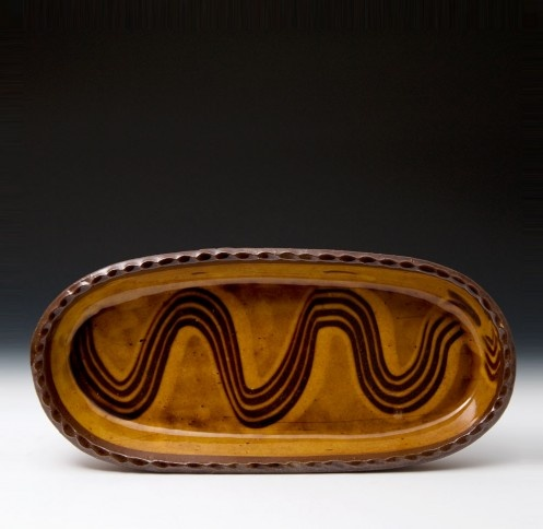 Shallow Oval Dish  Clive Bowen
