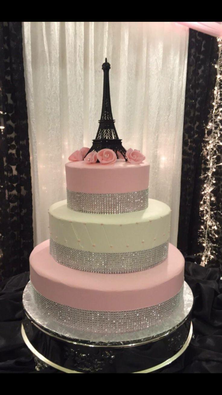 Glamorous Eiffel Tower cake More