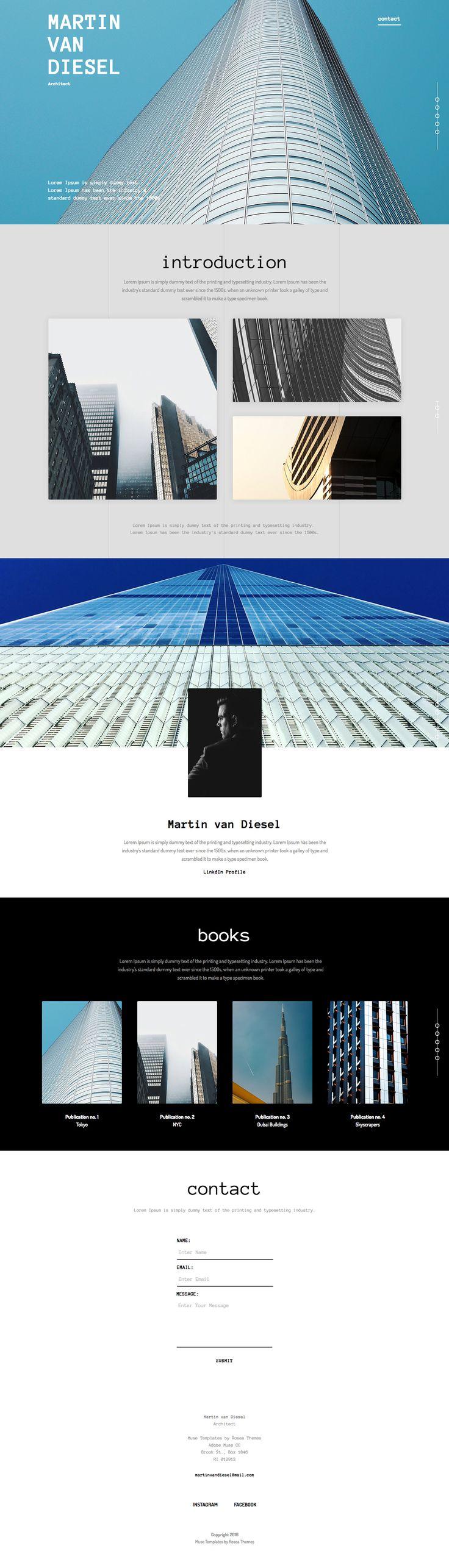Business Portfolio Page #vcard #template #adobe #muse #theme #web #design #architect