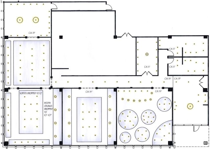 ceiling plan restaurant
