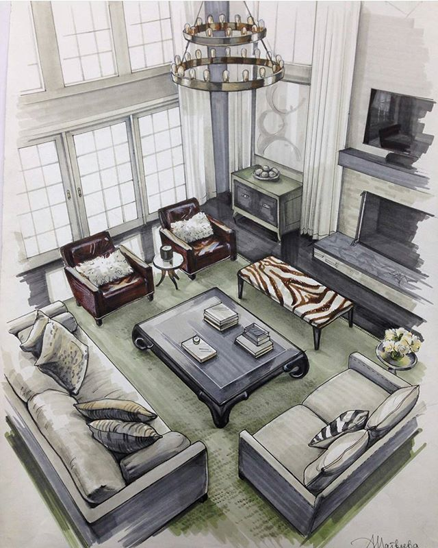 Interior Design Sketches Living Room the 25+ best interior design sketches ideas on pinterest