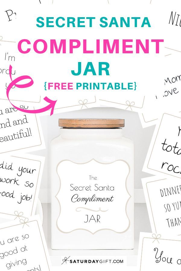 How To Create A Cute Secret Santa Compliment Jar Compliment Jar Secret Santa Compliments