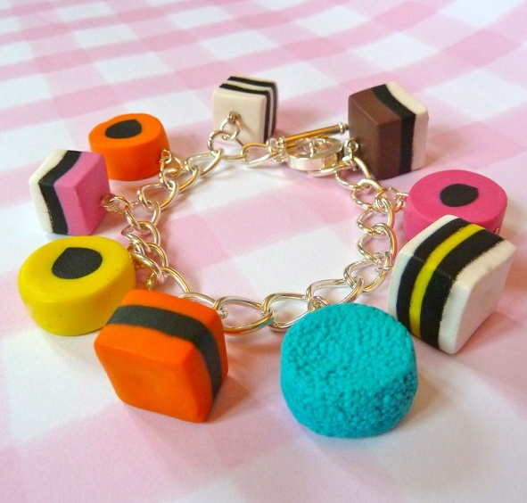 New Style Liquorice Allsorts Bracelet - Handmade by Fiction Candy Jewellery! Cute Kawaii Gifts :)