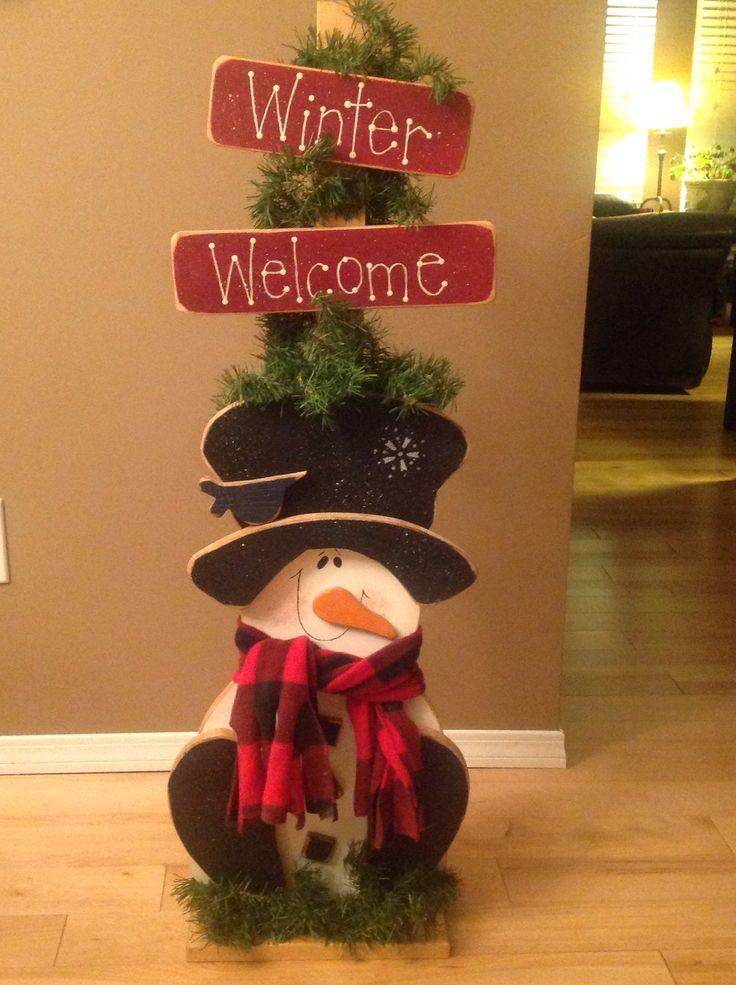 Wooden snowman 487 best WoodcraftWooden Yard Artsome