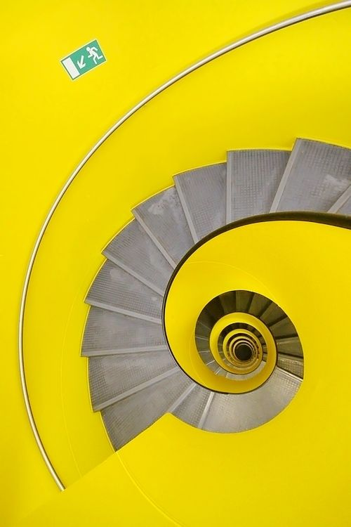 Envoutant: Colour, Photos, Spirals Stairca, Yellow, Architecture, Eric Dufour, Geneva Switzerland, House, Photography