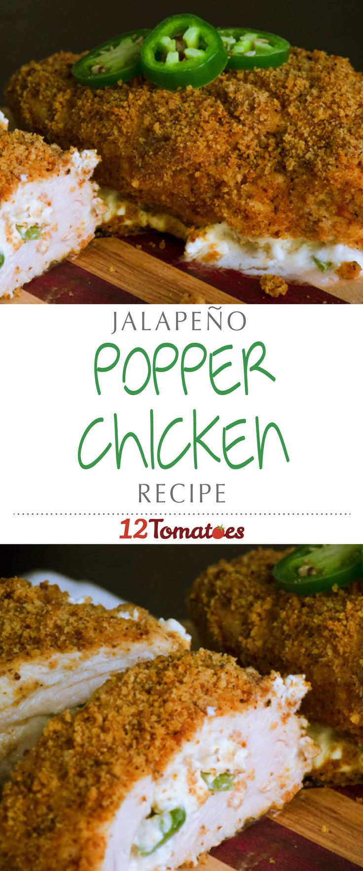 Jalapeño Popper Chicken | Using chicken breasts as the anchor of this recipe, we take all the original components of the popper (jalapeño and cream cheese are the stars of the show) and put everything together in a way that's deliciously crispy and decadently cheesy…you'll be hooked after the first bite!